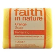 Faith In Nature Pure Vegetable Soap. Orange. 100g Bar