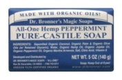 Dr Bronners Organic Peppermint Soap Bar 140g