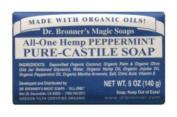 Dr Bronners Organic Peppermint Soap Bar 140g