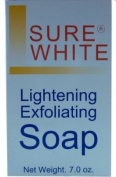 Sure White Skin Lightening Whitening & Exfoliating Soap 200g for Even Skin tone , Hyper-pigmentation, uneven skin tone + dark age spots