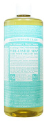 Dr. Bronner's Magic Soaps Pure-Castile Soap, 18-in-1 Hemp Unscented Baby Mild, 950ml Bottles