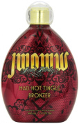 Jwoww Mad Hot Tingle Bronzer Dark Tanning Lotion Yoghurt Base Infused with Black Currant Oil and Pear 400ml