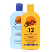 Malibu Sun Lotion SPF12 & Aftersun 2 x 200ml