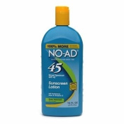 No-Ad SPF# 45 Sunscreen Water Resistant Lotion with Aloe & Vitamin-E 470ml