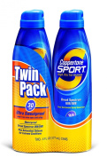Coppertone Continuous Spray Twin-Pack Sport SPF #30 177 ml