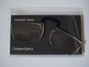 Compact Specs Reading Glasses +2.00 Pince Nez style