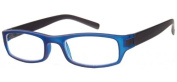 Sunoptic R59C Strength +2.00 Reading Glasses with Pouch Blue Rim/ Black Arms