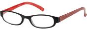 Sunoptic R12 Red/Black Reading Glasses - Strength +3.50 Including Slip Case