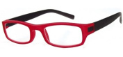 Sunoptic R59B Strength +1.50 Reading Glasses with Pouch Red Rim/ Black Arms