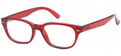Sunoptic R21B Strength +2.00 Reading Glasses with Pouch Transparent Red