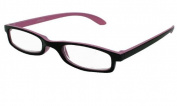 About Eyes G102 Pink/Black Reading Glasses - Strength + 2.00 with Pouch