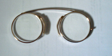 modern pince nez reading glasses spectacles gold colour