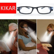 KIKAR LED light +1.0 Reading Glasses with Sturdy Stylish Case - Improve your vision even in the dark!