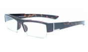 About Eyes G133 Cade Brown Reading Glasses Strength +2.50 with Pouch