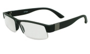 About Eyes G261 Adon Black with Silver Square Ready to Wear Reading Glasses Strength +1.00 with Soft Case