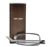 eye-see quality folding reading glasses with matching hard aluminium case. strength +1.50