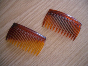 2 x Tortoiseshell Side Combs / Hair Slides