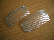 2 x Clear Large 90mm Side Combs / Hair Slides