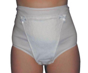 Pants With Pad Ladies Xx-Large White Hips 46 To 120cm