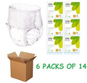 VAT EXEMPT Lille Suprem Pull Up Incontinence Pants Medium Super Saver 6 Pack Of 14