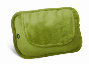 Lifemax 4 Ball Shiatsu Heated Cushion with Plush Cover Green