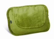Lifemax 4 Ball Shiatsu Heated Cushion with Plush Cover Green