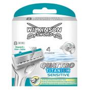 Wilkinson Sword Quattro Titanium Razor Blades 8 Pack