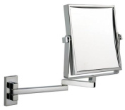 Luxury square extending shaving/makeup mirror - chrome