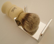 Shaving brush dripstand, silver
