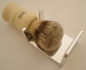 Shaving brush dripstand, silver