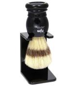 Shaving Brush HJM with pure bristle - black