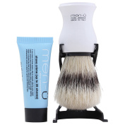 Men-U Barbiere Shave Brush & Stand + 15ml Tube Shave Cream