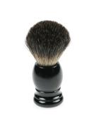 Fantasia 9121 Badger Shaving Brush, Plastic Handle, Height 9.5 cm, Black