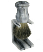Shaving Brush HJM with pure badger - marbled grey