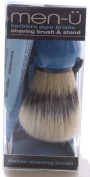 men-u Barbiere Shaving Brush and Stand - Blue