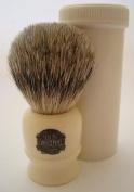 Progress Vulfix 2190 Pure Badger hair travel shaving brush with tube, white