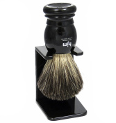 Shaving Brush HJM with pure badger plucked - black