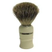 Pure Badger Shaving Brush Faux Ivory Turned Handle