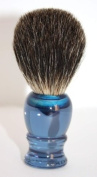 RAZZOOR Shaving Brush Blue acrylic - Dark Badger Hair