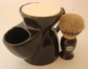 Progress Vulfix 660S Super Badger shaving brush & shaving mug, black