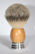 Shaving Brush Olivewood/Aluminium with Badger Silvertip