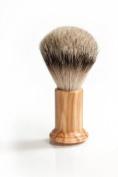 RAZZOOR Shaving Brush COLUMN OLIVE WOOD - Badger Silvertip