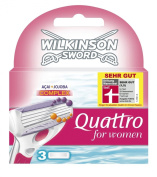 Wilkinson Sword Quattro For Women Razor Blades 3 Pack