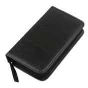 BestDealUSA Portable Faux Leather 80 Disc CD DVD Wallet Storage Organiser Holder Bag Case