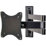 VideoSecu TV Wall Mount Articulating Arm Bracket for VESA 100 LCD LED Flat Panel Screen TV and Monitor ML10B 1E9