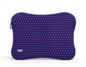 BUILT Neoprene Sleeve for 38cm Macbook and MacBook Pro, Mini Dot Navy