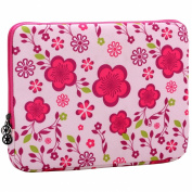 33cm Pink Spring Floral Pattern Laptop Notebook Sleeve Slip Case Bag for most of MacBook Acer Asus Dell HP Lenovo Sony
