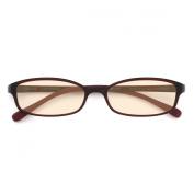 JINS PC Glasses Computer Eyewear Dark Brown