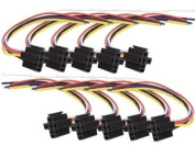Absolute USA 5-Pin 12 VDC Interlocking Relay Socket with 30cm Lead, 10 Set