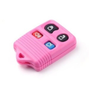 4 Buttons new Transmitter Keyless entry Remote key case Shell For Ford Fob PINK